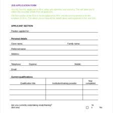 company employment job application form template sample vlcpeque