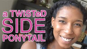 hair pony tail for african hair 2 minute twisted side ponytail short long natural hair youtube