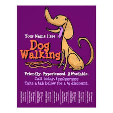 Dog Walking Advertising Promotional Flyer sarah