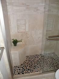 river rock tile bathroom floor