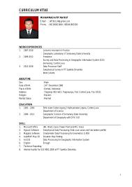 gis resume sample resume of muhammad afif ma ruf