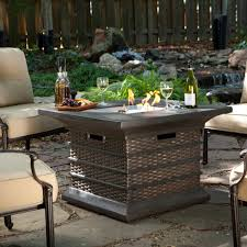 Diy Firepit Table Patio Ideas Outdoor Dining Table Pit With Square Metal Table