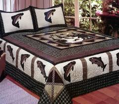 Ducks Unlimited Bedding Fisherman U0027s Wharf King Quilt Fishing Bedding Crystal Creek Dã