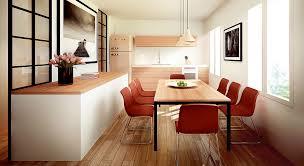 cuisine et salle à manger cuisine et salle à manger dans la longueur