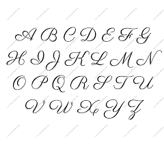 16th century cursive uppercase lowercase letter stencils a z 1 4
