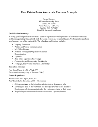 Real Estate Resumes Resume Real Estate Agent Free Resume Example And Writing Download