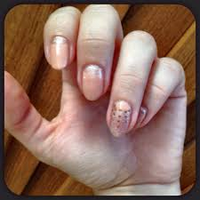 with sparkle reverse french gel manicure design by kim at nu