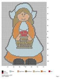 pilgrim boy and pilgrim needlepoint pattern or cross