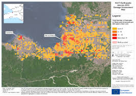 Haiti Map Haiti Earthquake First Damage Assessment In Support Of Relief