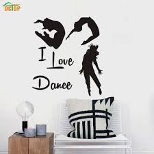 online buy wholesale dance decoration for room from china dance modern i love dance vinyl removable wall decal gymnastics dance home decor art wall stickers for