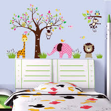 mr lee china monkey elephant forest animal kindergarten children s mr lee china monkey elephant forest animal kindergarten children s room wall decorative wall stickers paper freeshipping 4in1 in wall stickers from home