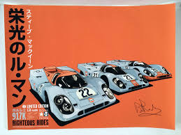 gulf porsche 917 porsche 917 u0027righteous rides u0027 2 signed brian redman