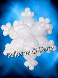 snowflake balloons christmas decor ideas balloons party decorations