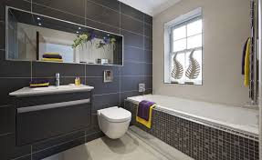 Black Bathroom Floor Tile What Makes Wall Hung Toilets Special Features You Should Know