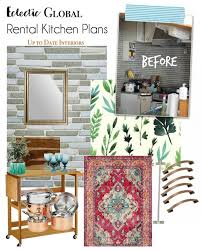 Rental Kitchen Makeover - new year new room refresh global eclectic kitchen up to date