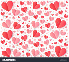 heart wrapping paper pink folded paper hearts vector stock vector 562751395