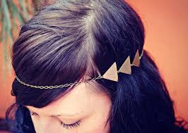 chain headband triangle chain chain headband triangle headband