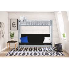 Viv Rae Julian Twin Futon Bunk Bed  Reviews Wayfair - Twin futon bunk bed