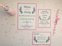 the strawberry shake wedding stationery collection from best day ever