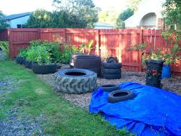 backyard oasis with tire ponds