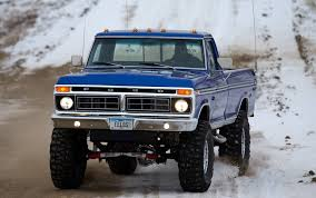 Vintage Ford Truck Air Conditioning - nice looking blue highboy ford in the looks just likek e our 76