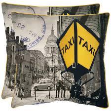 home decorators collection printed tan burlap safari pillow