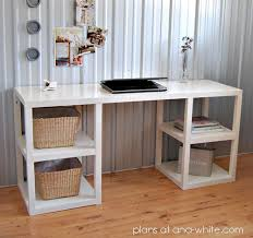 ana white parson tower desk diy projects