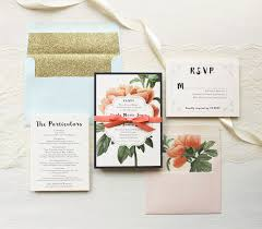 wedding invitations floral floral boho glitter wedding invitations beacon