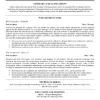 Software Architect Resume Examples by Web Architect Resume
