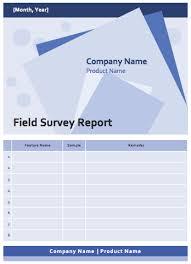 field report template field survey report template microsoft word templates