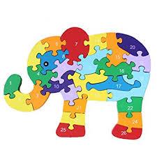 dd wooden jigsaw puzzles winding elephant toys
