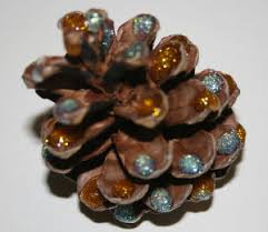 Decorating Pine Cones With Glitter Glittery Pinecone Decorations