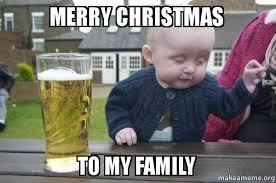 Family Christmas Meme - merry christmas to my family make a meme