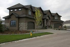 valley custom modular homes with brick stone wall exterior decor