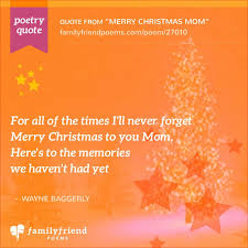 poem thanking mom u0027s merry christmas mom