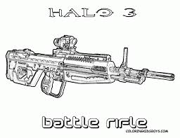 halo gun battle rifle coloring pages other best images of gun