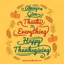 handwritten thanksgiving card vector free