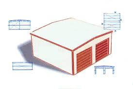 24 x 24 x 9 prefabricated garage building kit do it yourself click for a larger higher resolution image 500 kb download