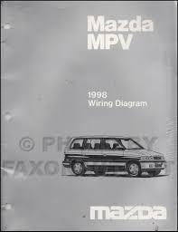 1998 mazda mpv repair shop manual original