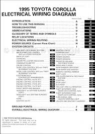 1995 Toyota Corolla Wiring Diagram Manual Original