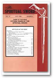 the spiritual sword bound volume xiv october 1982 january