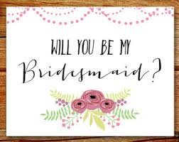bridesmaid invitation bridesmaid invite etsy