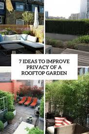 Privacy Garden Ideas How To Improve Privacy Of A Rooftop Garden 7 Ideas Gardenoholic