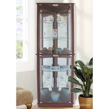 wayfair corner curio cabinet andover mills randalstown lighted corner curio cabinet reviews