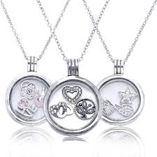 charm locket necklace images 2016 new autumn style real 100 925 sterling silver floating jpg