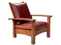 stickley oak mission classics gustav bow arm morris chair