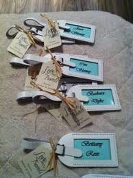wedding favor luggage tags the navy and gold constellation luggage tag