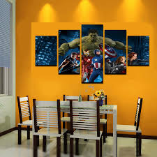 5 pcs large hulk cartoon living room canvas print painting for