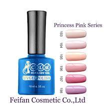 2017 fei fan beauty color princess pink series long gel nails