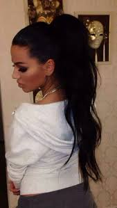 hair pony tail for african hair black hair long ponytail